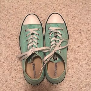 Converse size 10 sneakers mint green